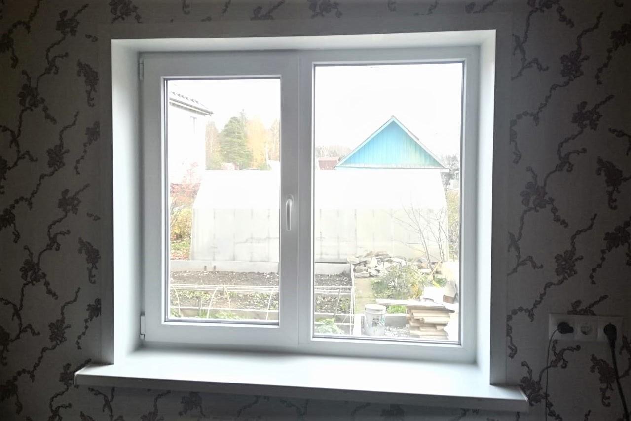 Стандартное дачное окно под ключ