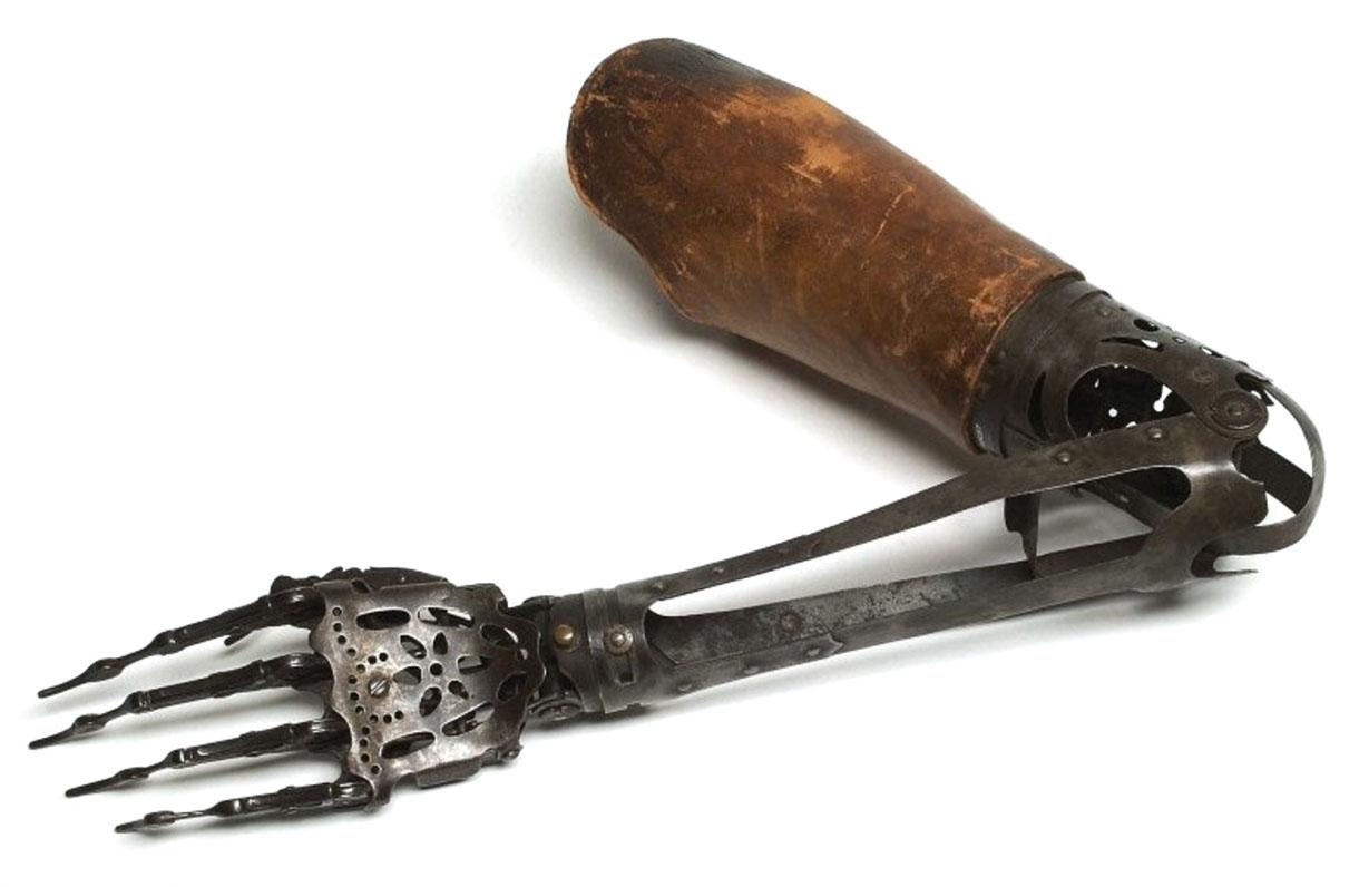 Металлический протез руки 1890 г.
