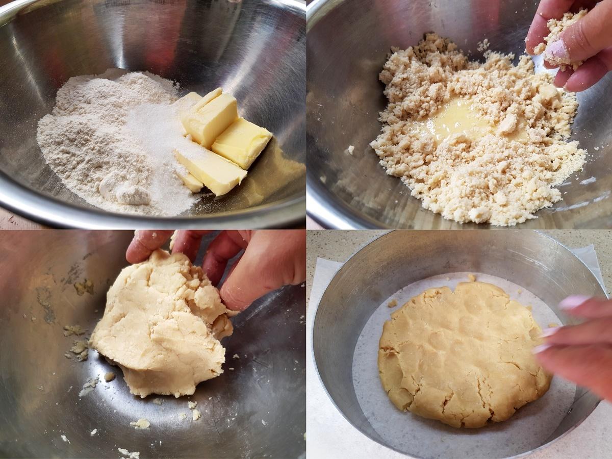 Песочное тесто для творожного пирога. Фото рецепт.