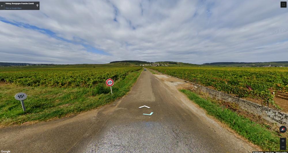 Cruising through Volnay vineyards with Google Maps