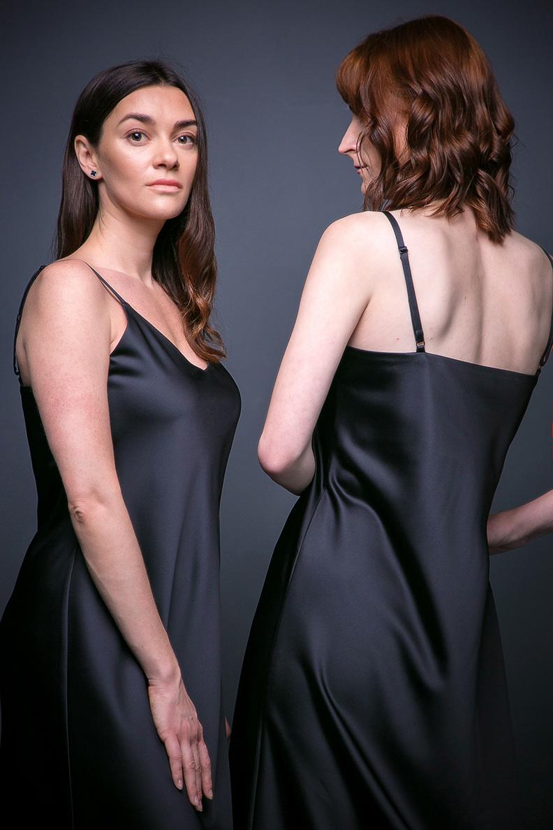 LARGO сукня-комбінація чорна