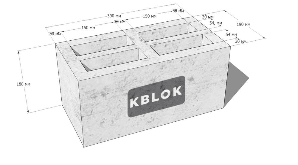 шлакоблок размеры блоков