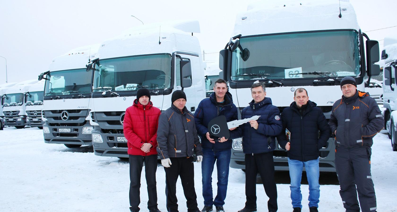 Сетевой ритейлер X5 Retail Group впервые закупил грузовые автомобили Mercedes-Benz (фото: «Даймлер КамАЗ Рус»)