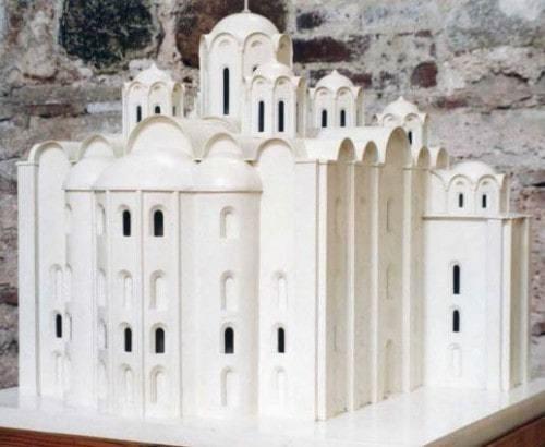 Софийский собор в Полоцке. Реконструкция. Макет.