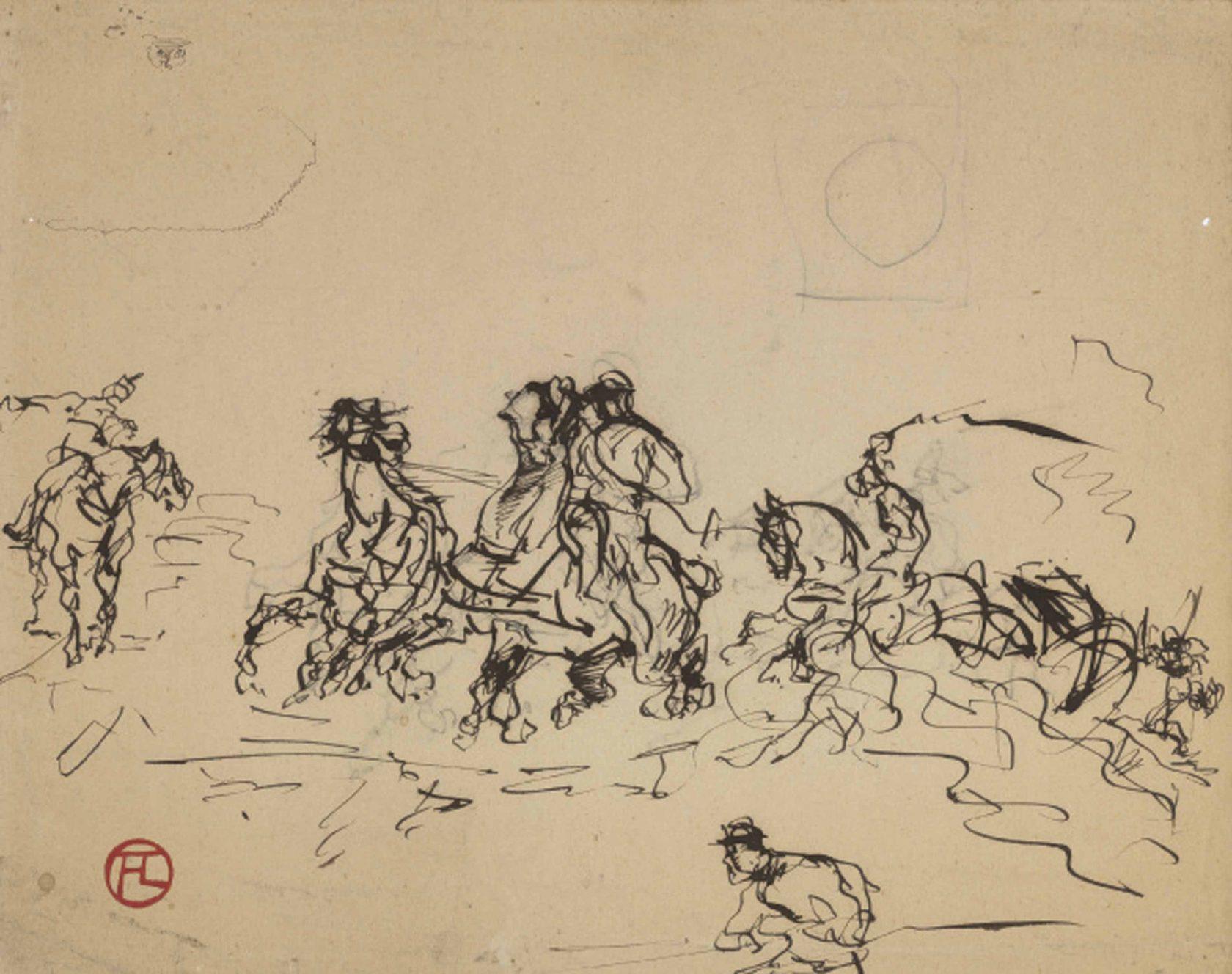 Скейтчи Анри Тулуз-Лотрека, 12 — 16 лет, 1876 — 1880 год