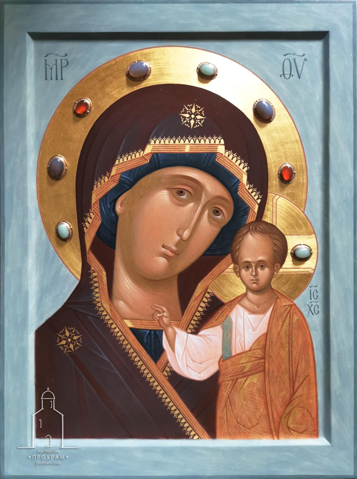 икона Божией Матери Казанская, иконопись, писаная икона, икона на заказ, икона на заказ в Минске
