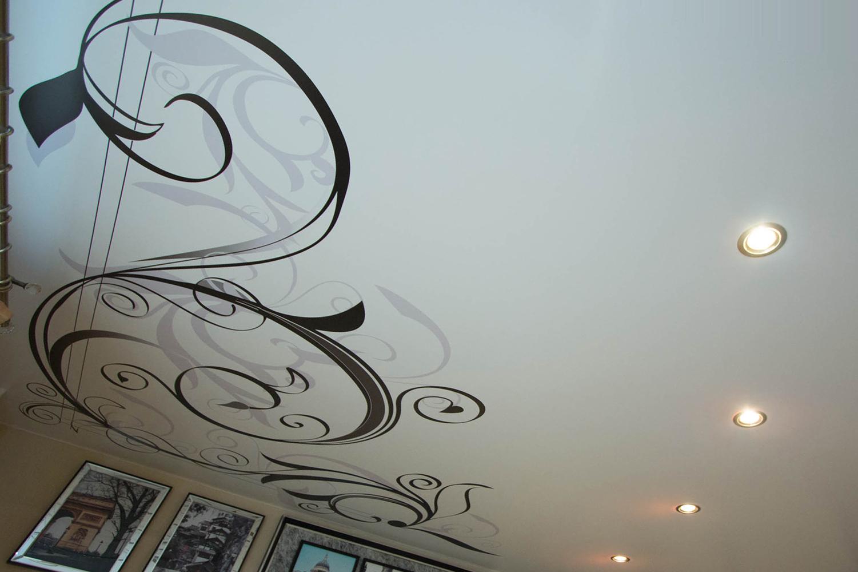 натяжные потолки с рисунком фото эскиз коллекции торты