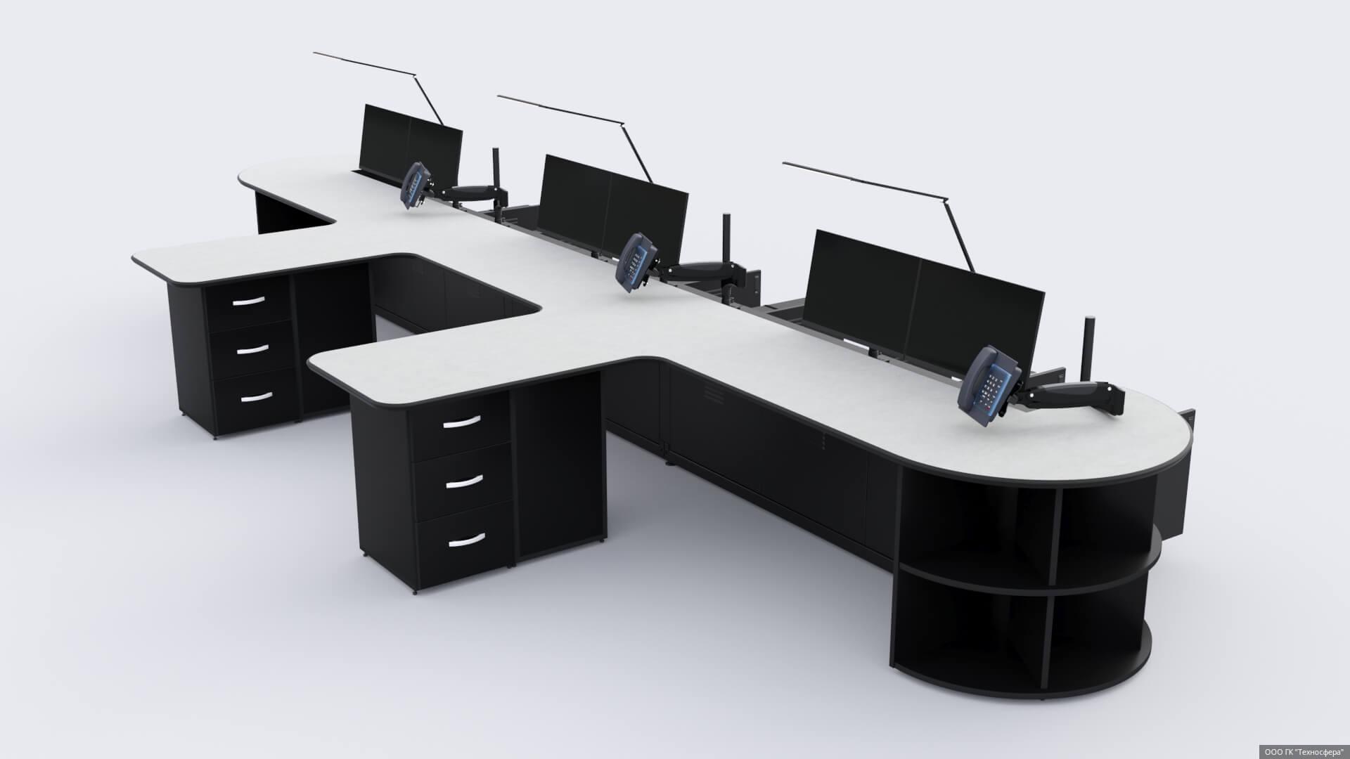 Повышение эффективности в аэропортах с помощью диспетчерской мебели