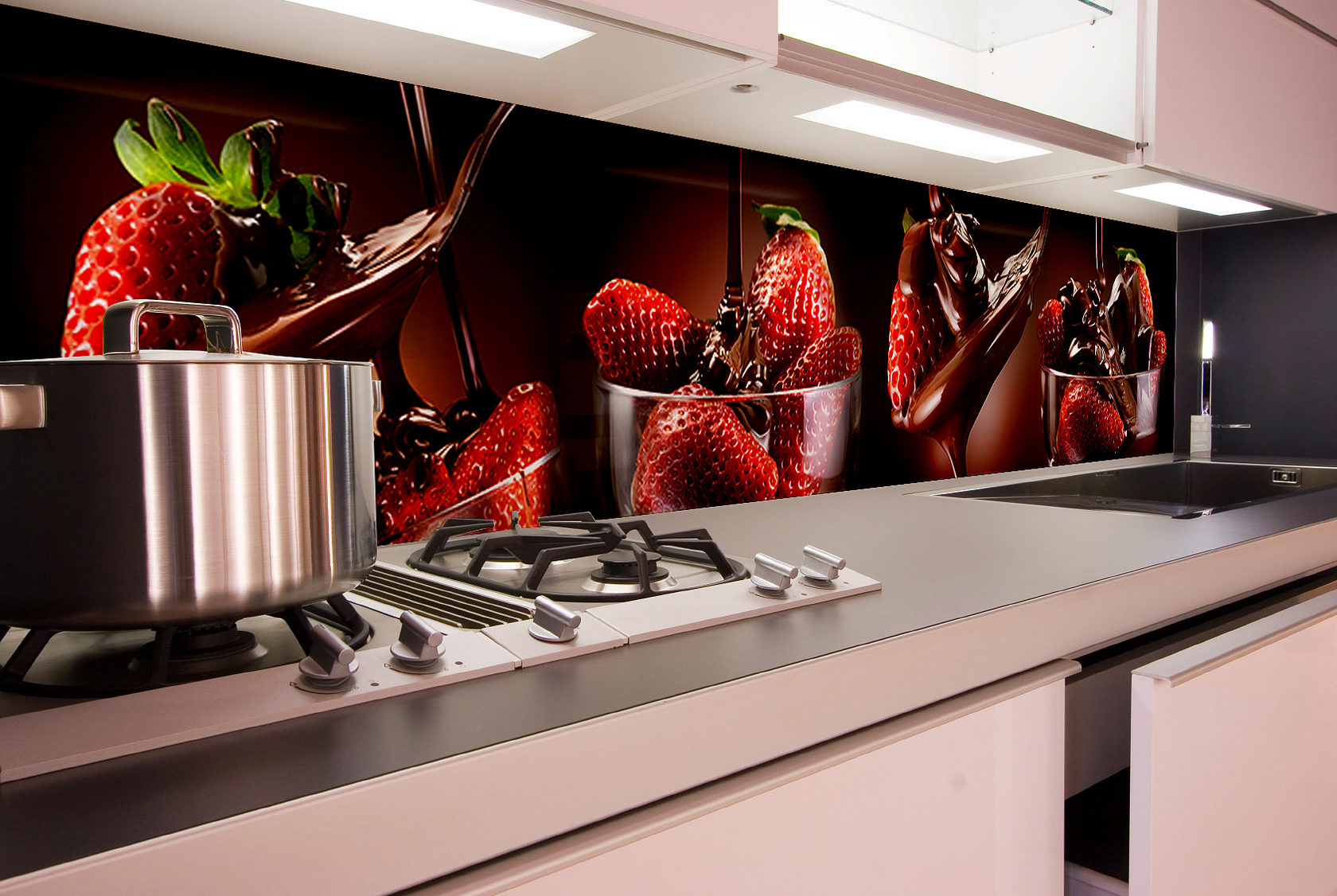 стеклянные фартуки на кухню с фотопечатью каталог помощью линзы