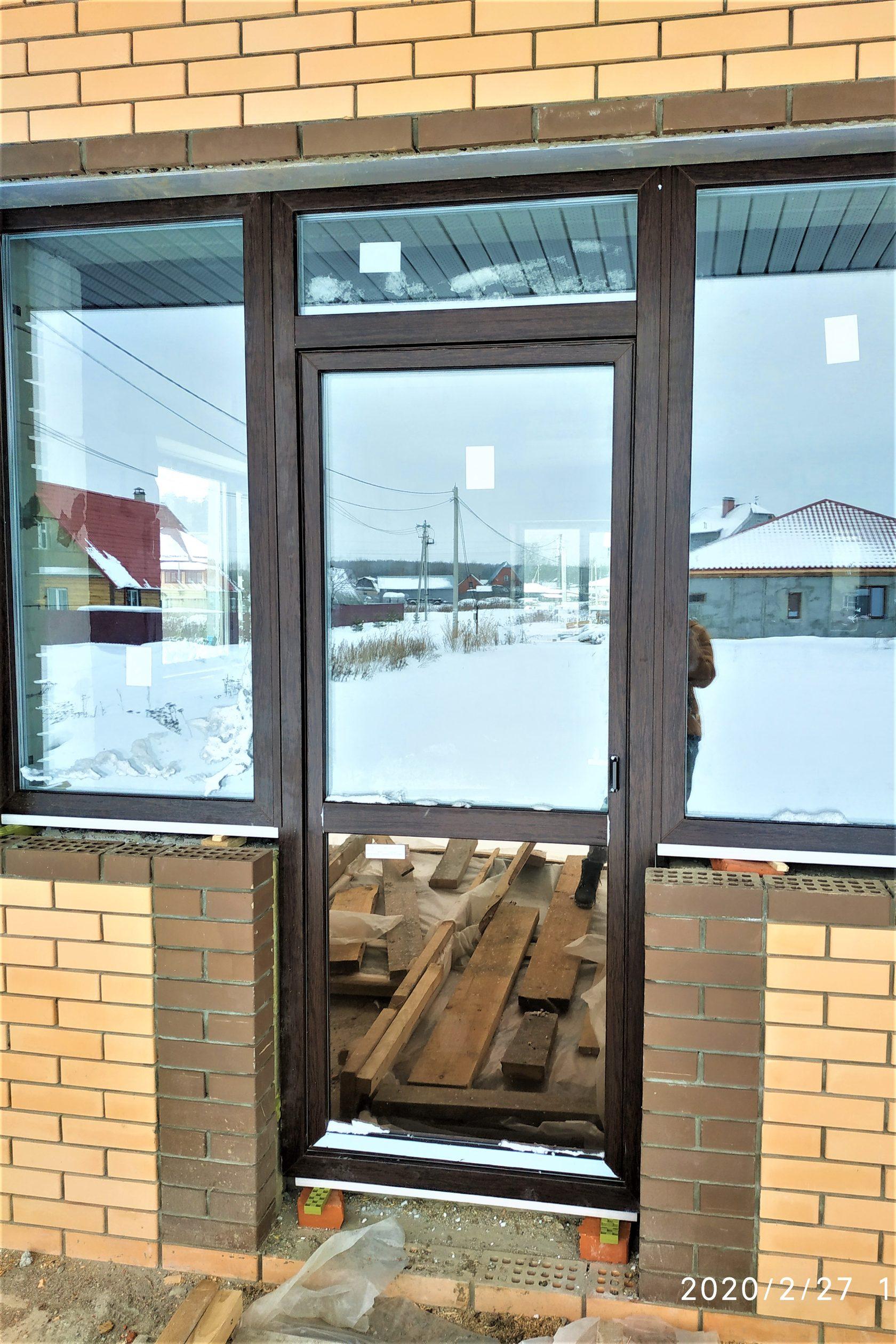 Остекления коттеджа Комфортное окно ламинация снаружи теплый стеклопакет