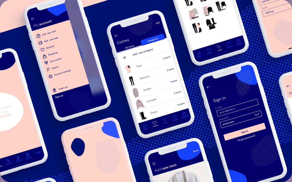 Проекты студентов курса UX/UI-дизайнер школы Contented