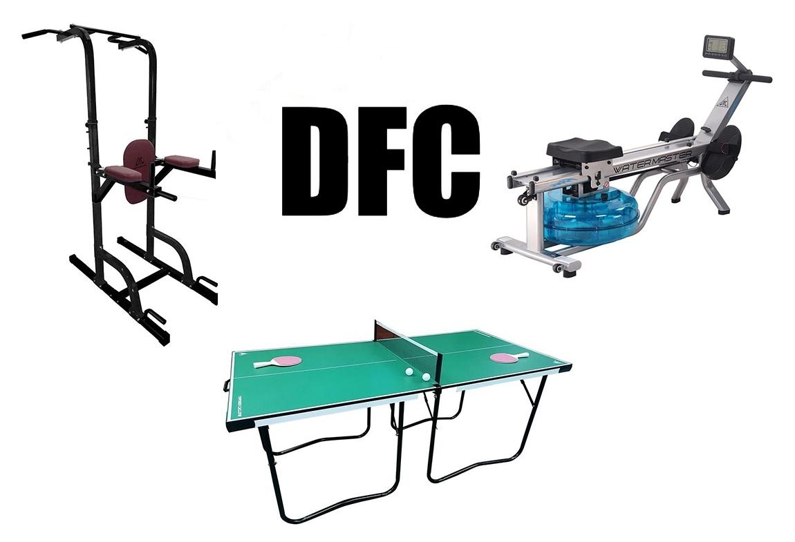 Поступление популярных силовых тренажеров, станций и турников DFC
