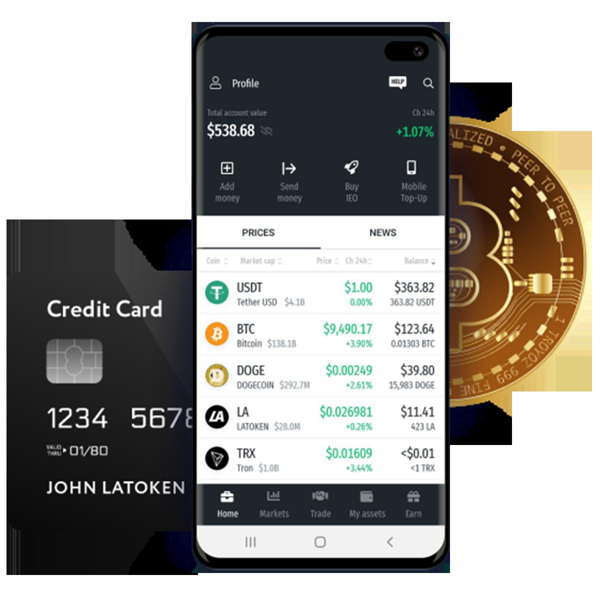 Latoken Cryptocurrency Exchange App