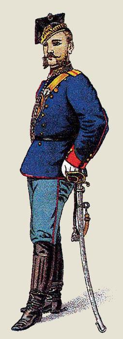 Обер-офицер уланских войск. иллюстрация