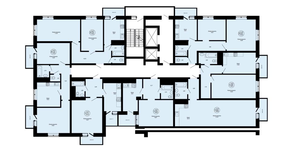 Планировки квартир ЖК Дом на Школьной