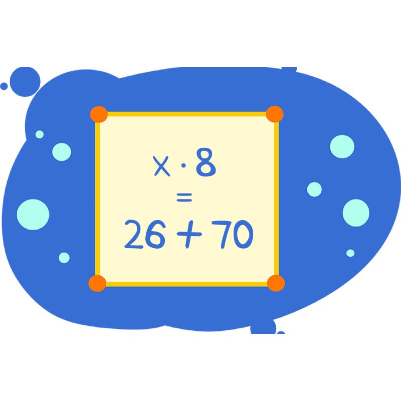 Уравнение на доске конкретного вида