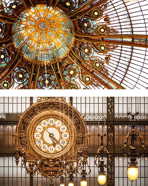 Красивые витражи Галереи Лафайет и Музея д'Орсэ