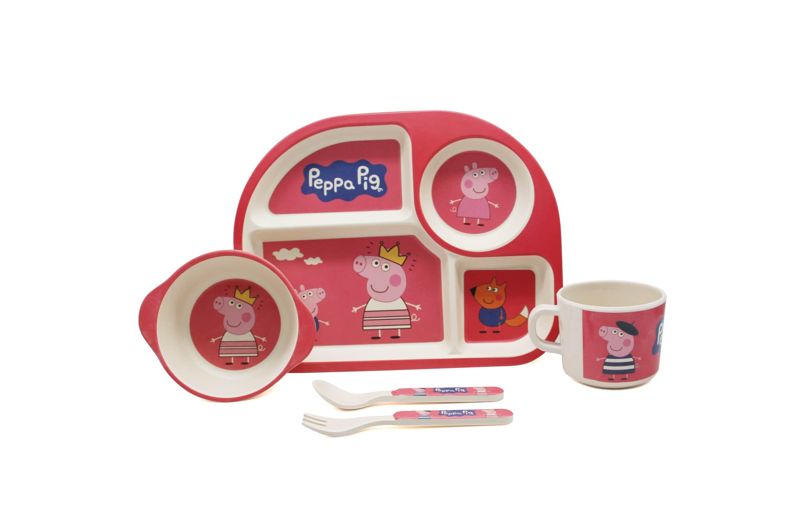 Набор посуды розовая Пепа