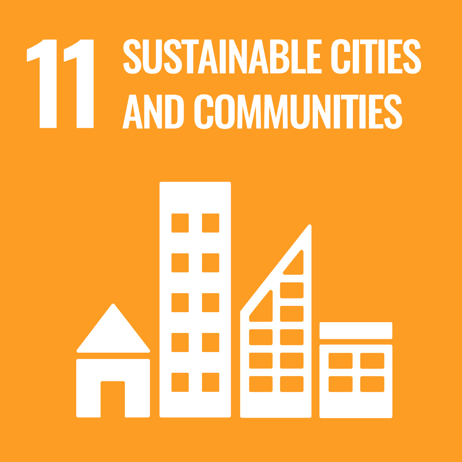 11. Sustainable cities and communities We want to contribute making cities and human settlements green, resource efficient, safe, inclusive and resilient. How we target this SDG? We build socially-impactful, innovative buildings. Our approach builds near zero construction waste (near zero scrap), Zero Net Energy homes. We encourage construction in environmentally preferable locations and avoid development of sensitive lands.