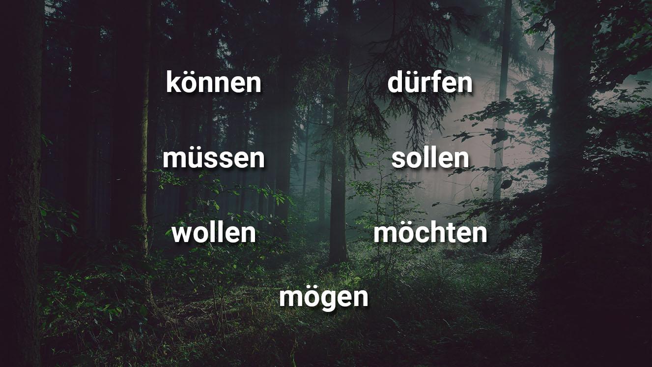 список модальных глаголов в немецком языке