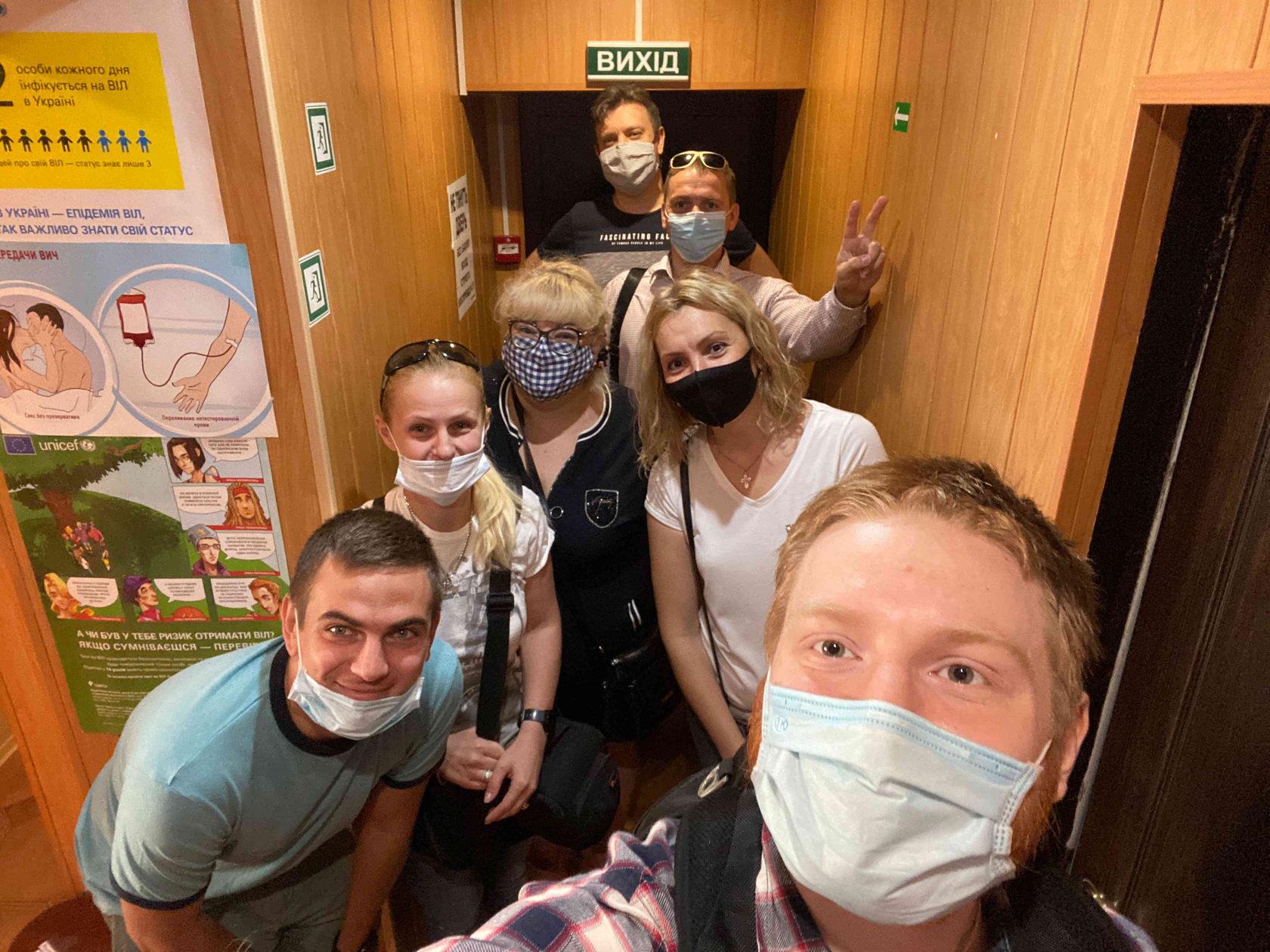 Партия Шария сдала кровь для детей в Одессе