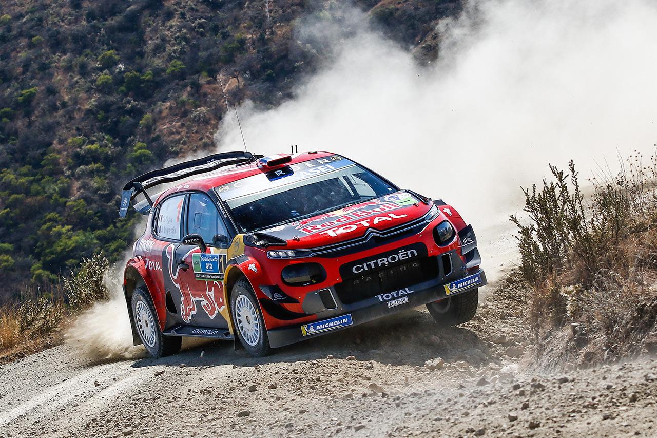 Себастьен Ожье и Жюльен Инграссиа, Citroen C3 WRC, ралли Мексика 2019