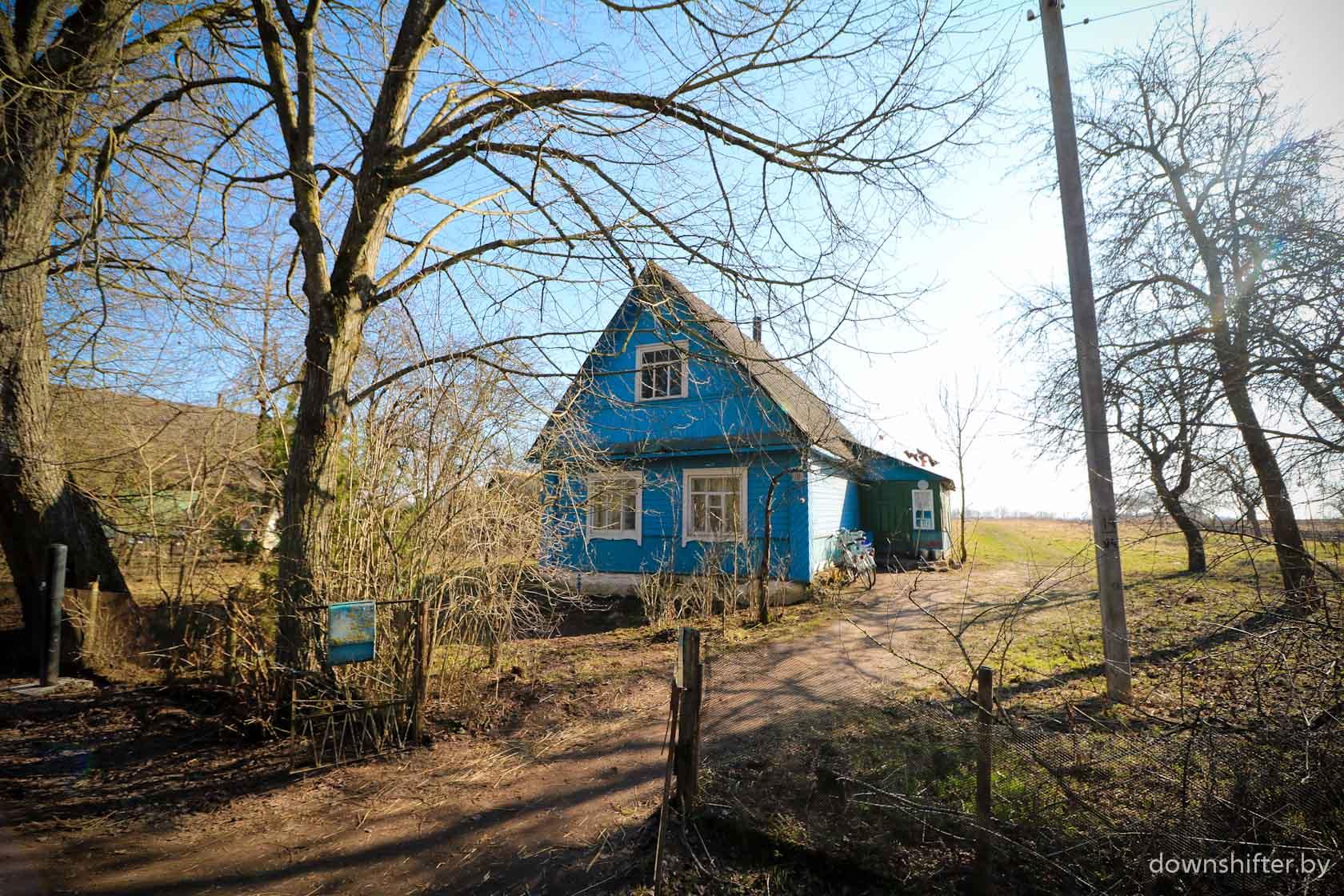 Дом, где живут практиканты.
