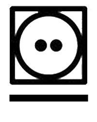 Символ на етикет за Сушилня със средно нагряване при програма за предотвратяване на намачкването.