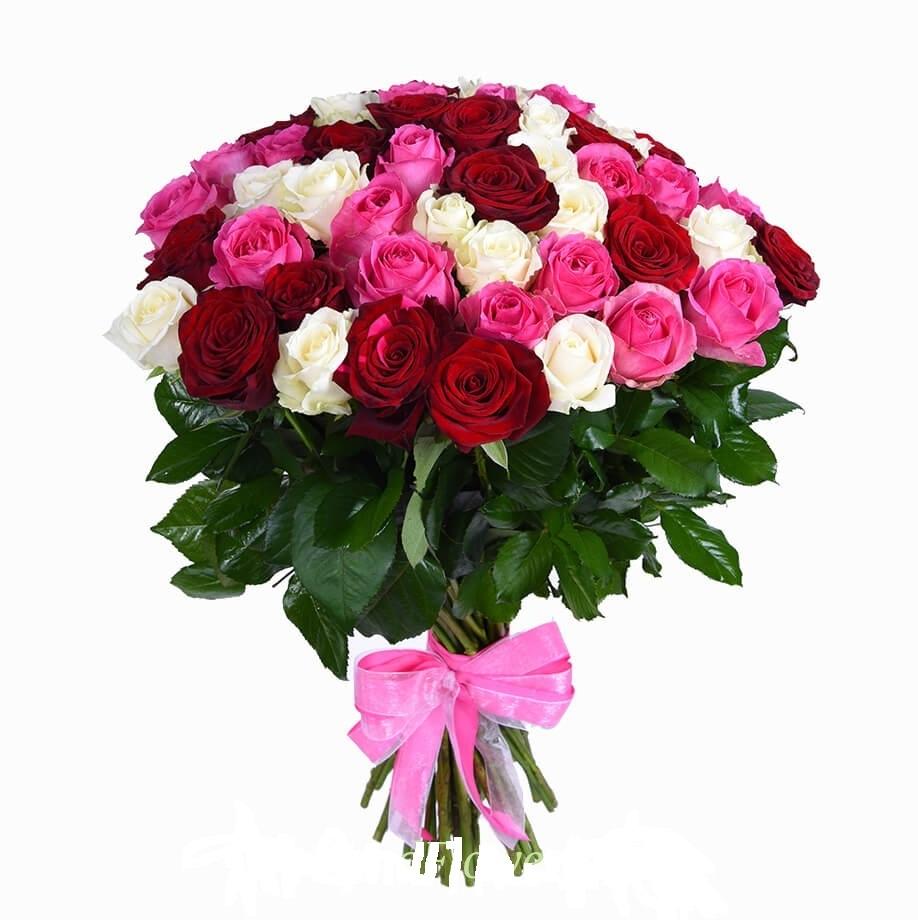 Цветов, купить букет 55 розы киеве
