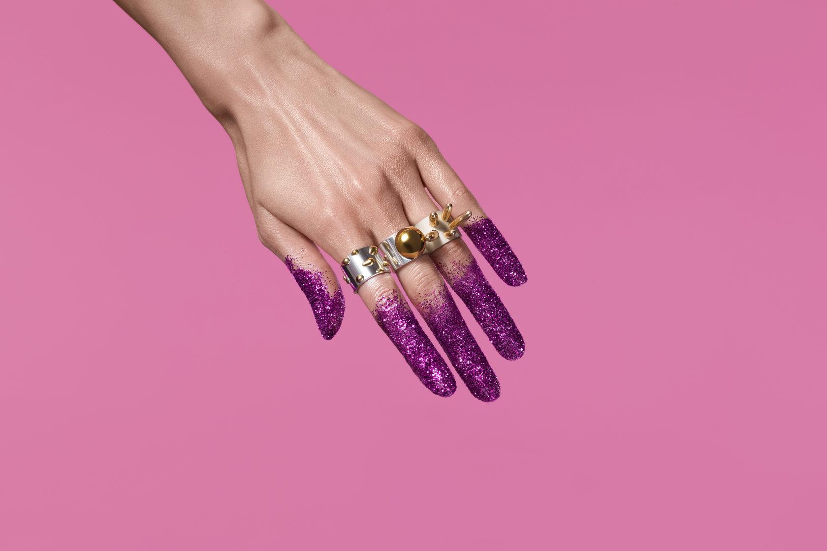 Серебреные и золотые кольца, индивидуальные кольца с золочением. Bubbles коллекция. Яркие весомые украшения.