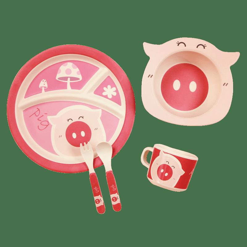 Набор посуды свинка