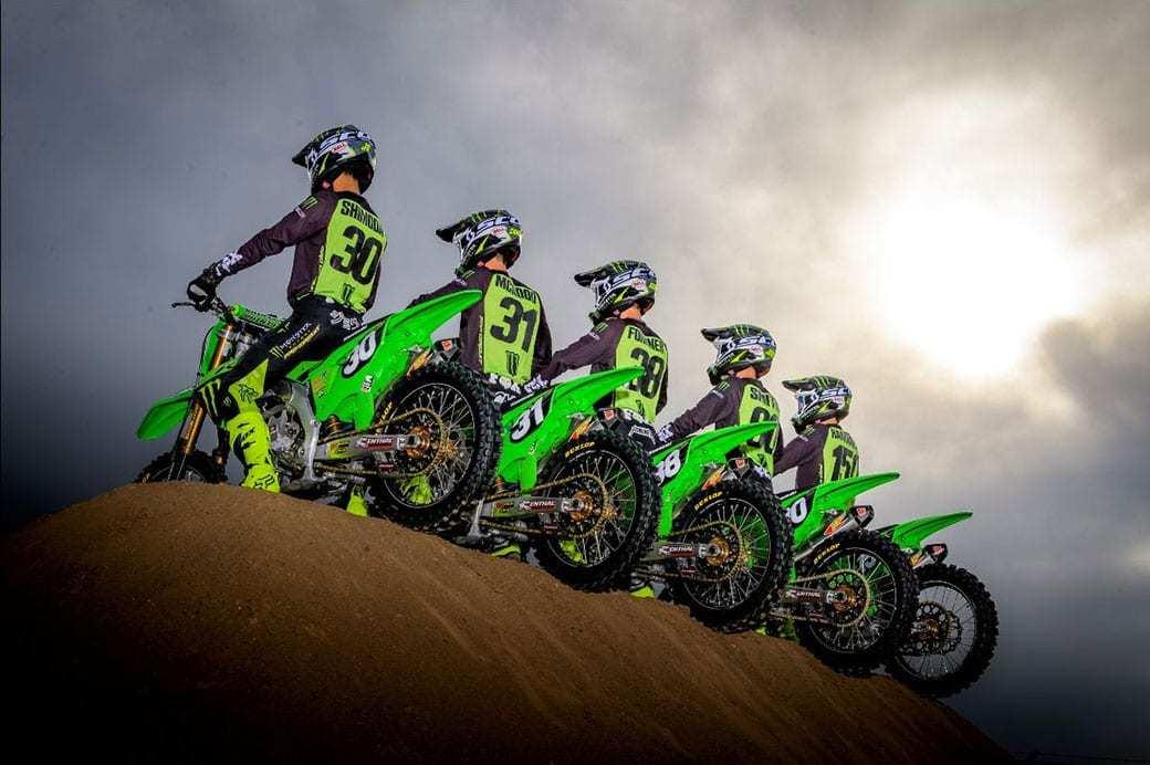 Тесты команды Monster Energy Pro Circuit Kawasaki