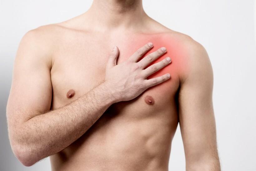 боль в грудной мышце слева