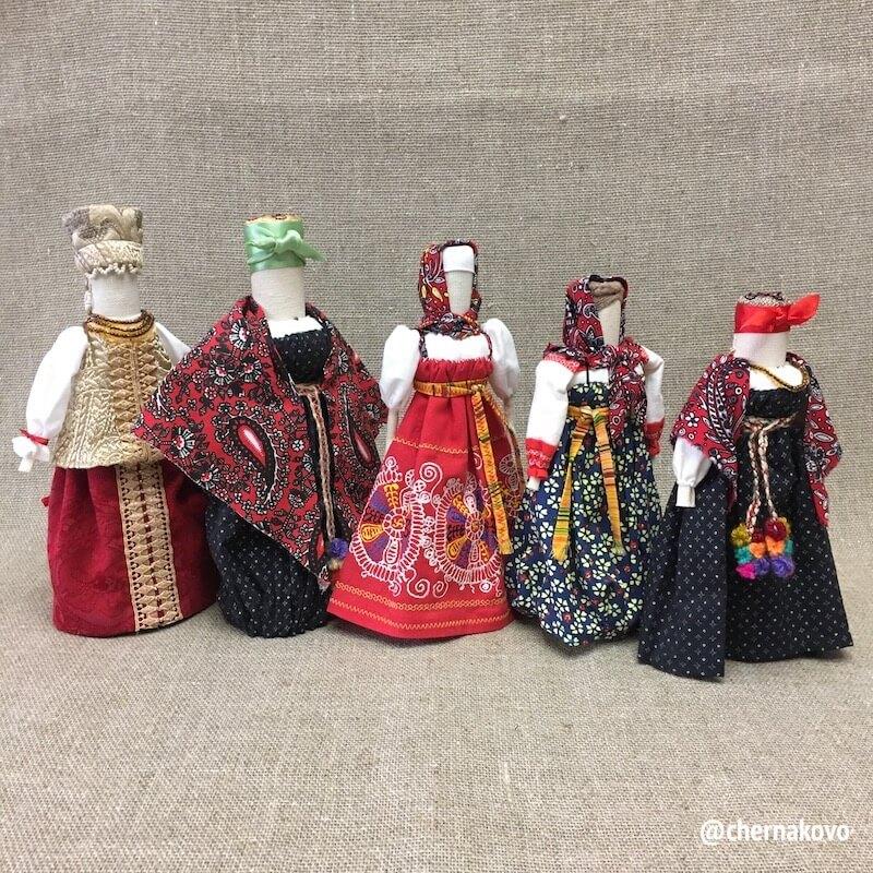редкие коллекционные куклы в народном костюме
