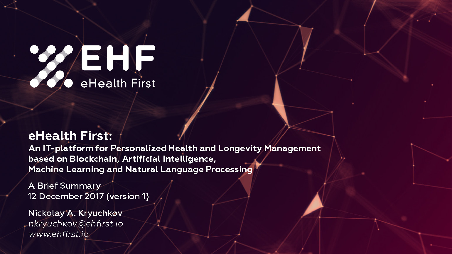 ❗ eHealth First ICO -- Whitelist + Special Offers and News
