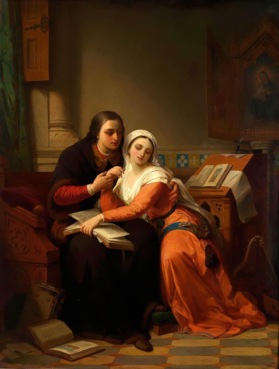 Никазиус де Кейсер. Абеляр и Элоиза» (1850-е)