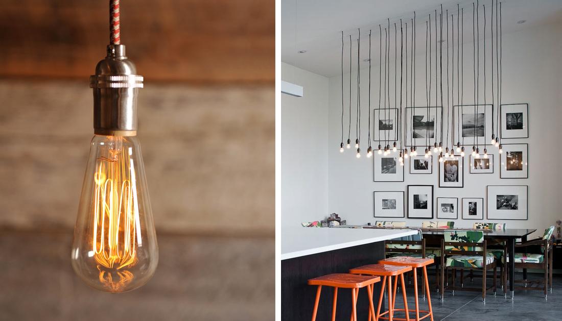 Картинки по запросу лампы накаливания в интерьере