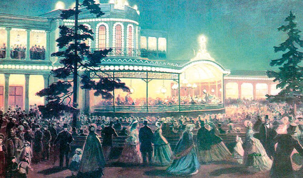 Елена  Самокиш-Гулковская «Музыкальный вечер  в Павловском вокзале»  (1862).