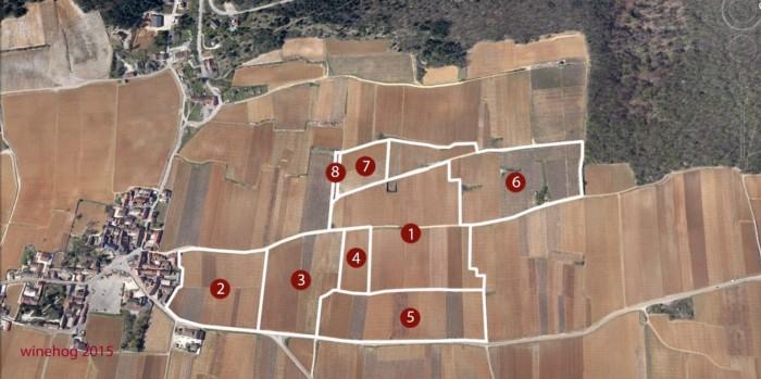 Clos de la Roche Grand Cru map and lieux-dits