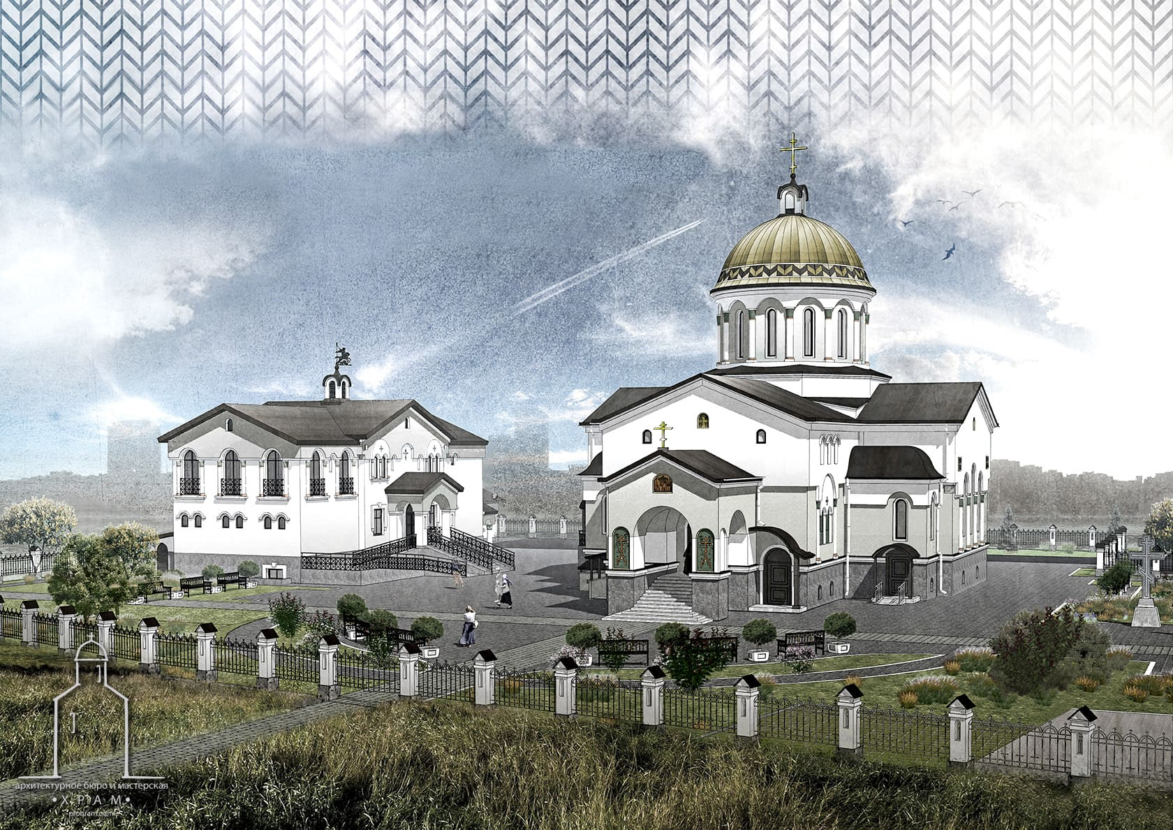 church architecture, church center, orthodox church project, sacred architecture, byzantine church project