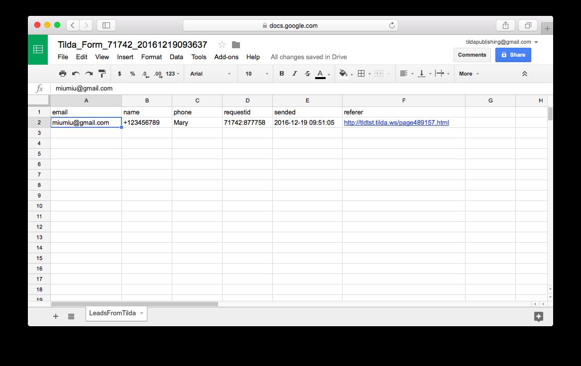 Saving form responses in Google Sheets