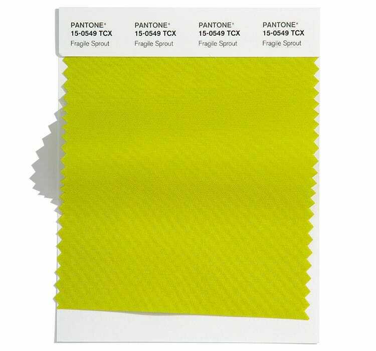Свеж жълтозелен цвят Fragile Sprout, модерен за пролет лято 2022 според Pantone