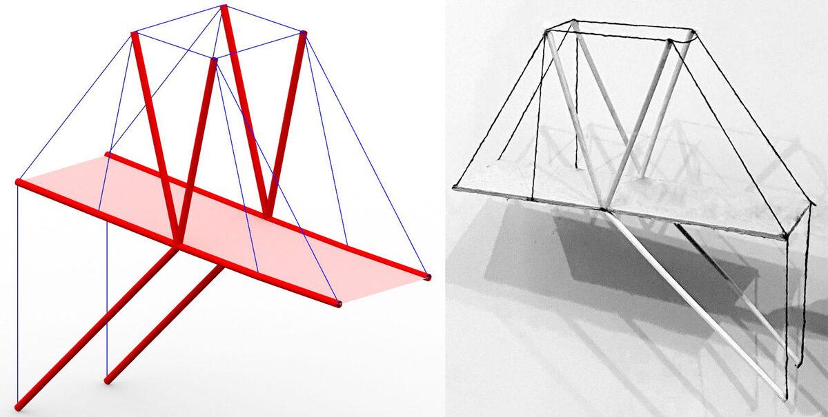 тенсегрити мост анатомия легких конструкций
