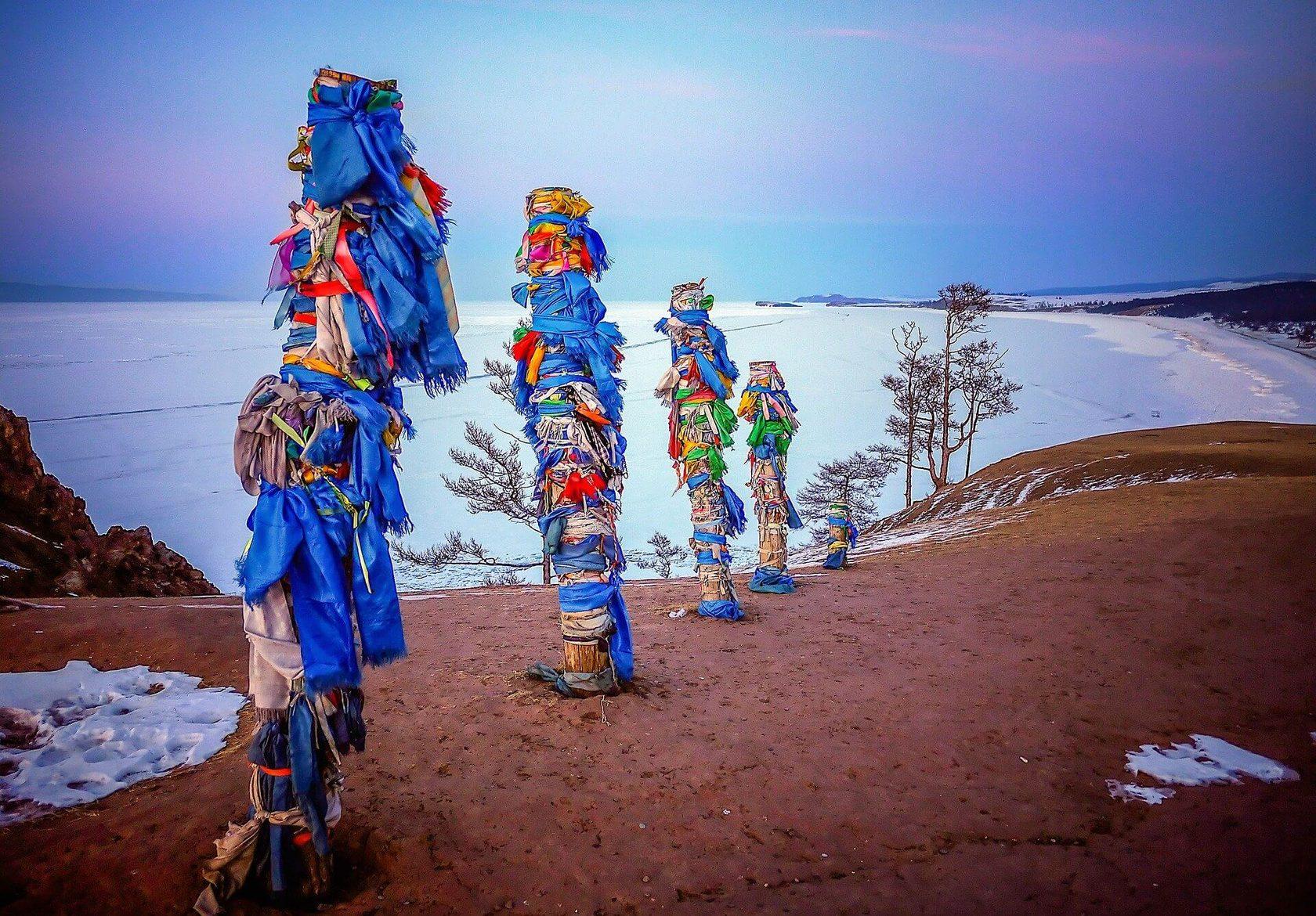 Ольхон шаманские столбы
