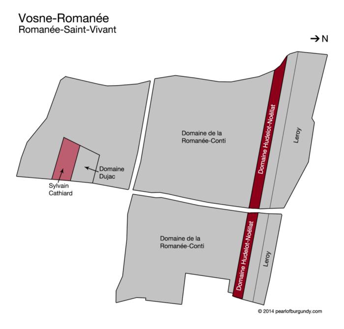Romanée Saint-Vivant Grand Cru map and vineyards owners