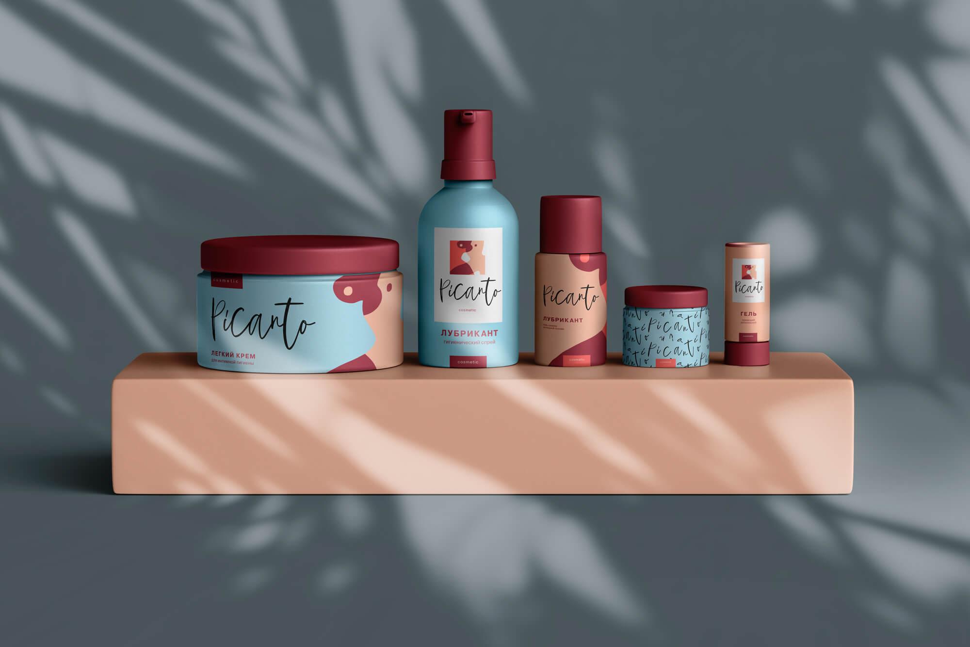 Дизайн косметики «Picanto», серия упаковки