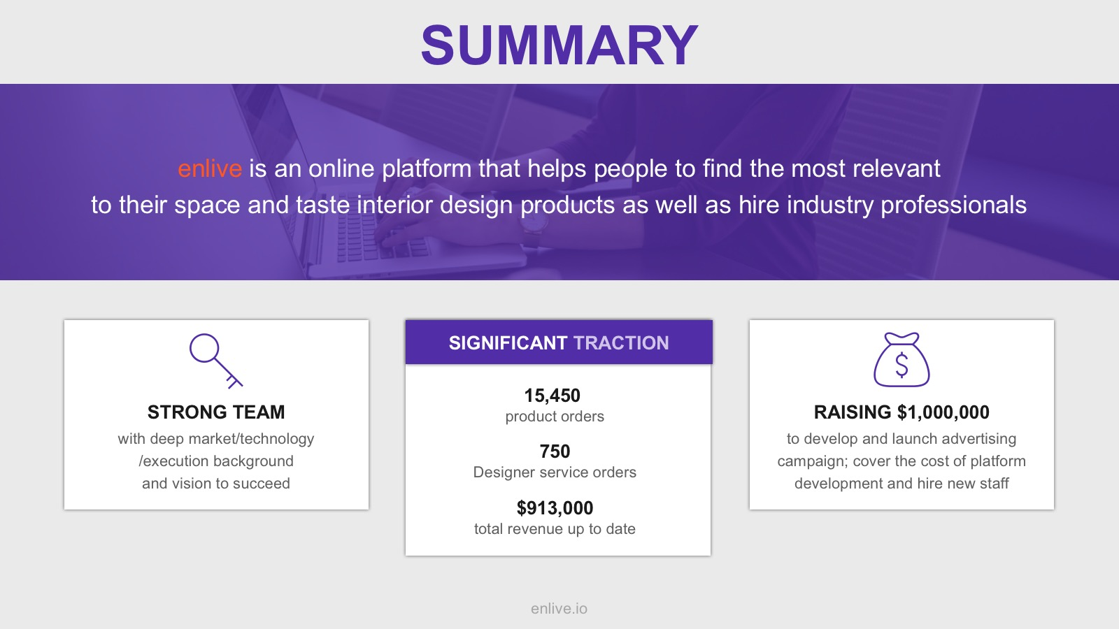 summary slide pitch deck template