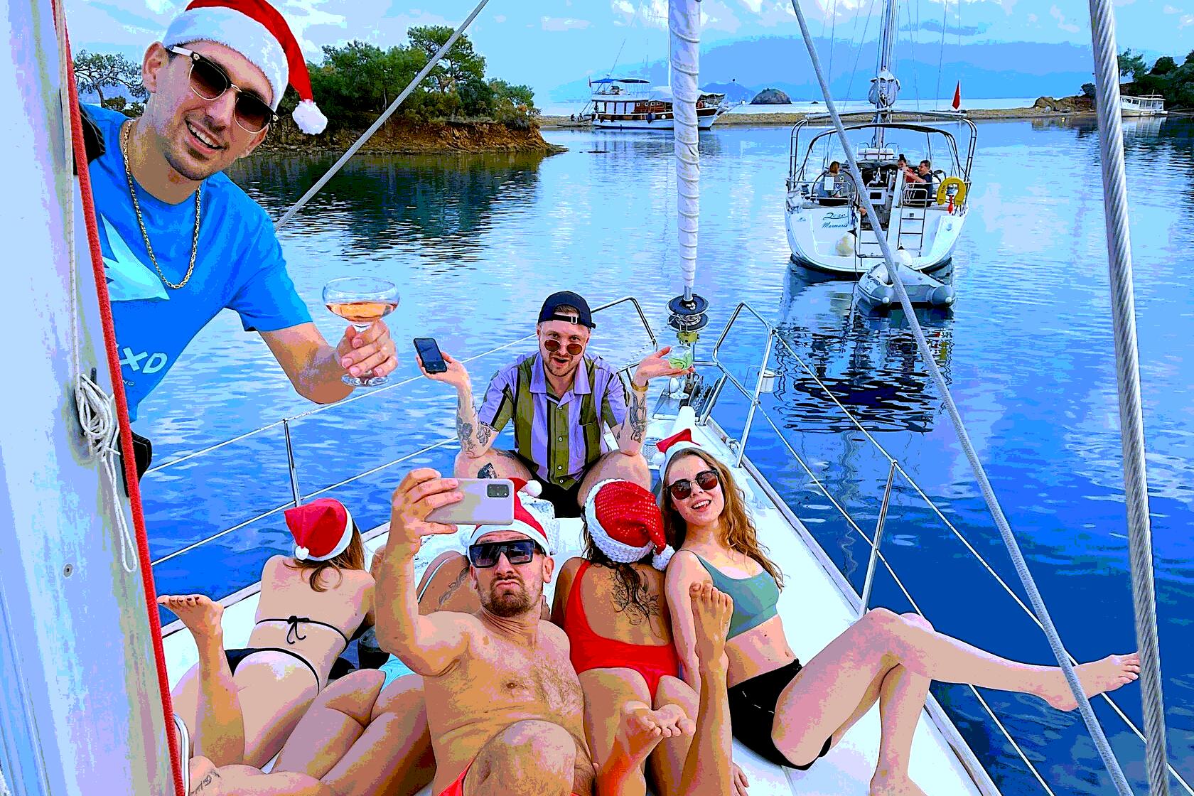 Новый Год на яхте в Турции