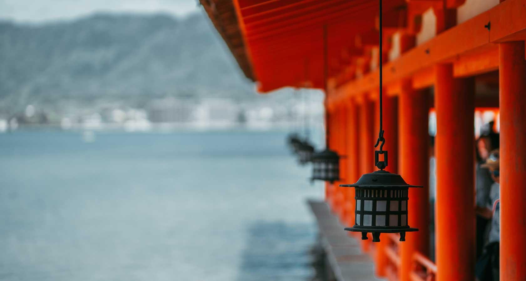 миядзима япония и святилище ицукусима