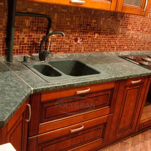 Мойка для кухни из искусственного камня полигран